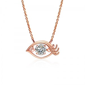 AllenCOCO Devil Eye Zircon Necklace 6213...