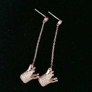 AllenCOCO Exquisite Crown Long Earrings 20847202