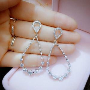 AllenCOCO Korean exquisite wild zircon earrings 20847802