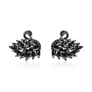 AllenCOCO Crystal Swan Earrings 20850902