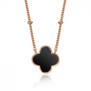 AllenCOCO Minimalist Clover Necklace 400592