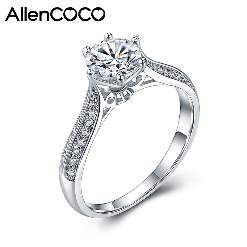 AllenCOCO Eight Hearts Eight Arrowns Zircon Rings 97649