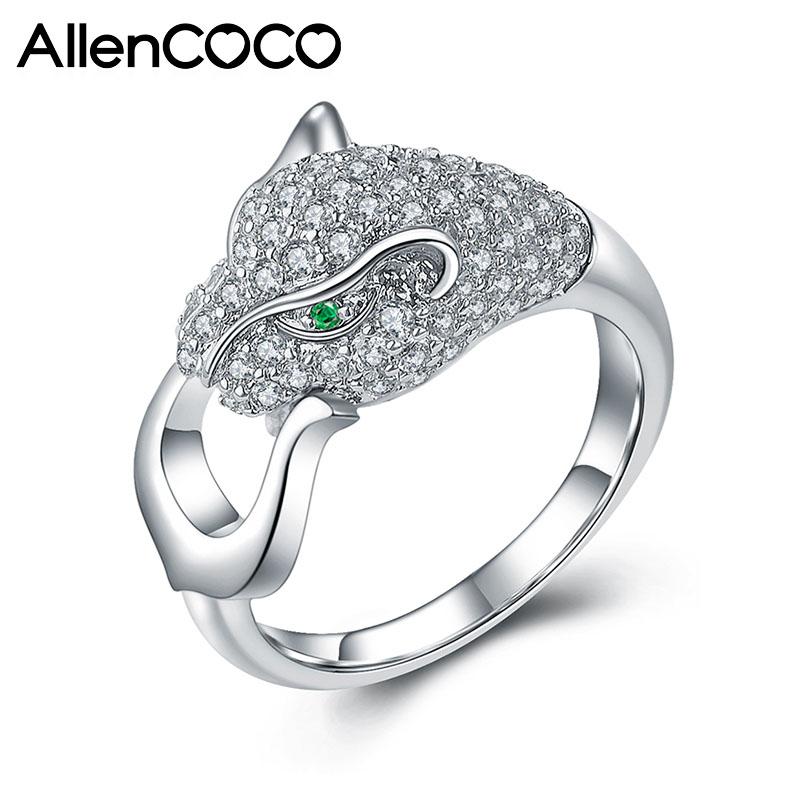 AllenCOCO Leopard Shape CZ Ring 97654
