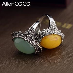 Allencoco agate ring  10348