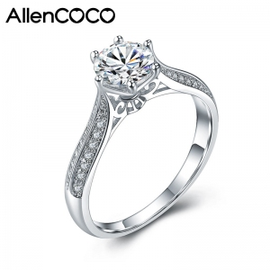 AllenCOCO Eight Hearts Eight Arrowns Zircon Rings 97649
