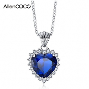 "AllenCOCO""Heart Of the Ocean"" White Gold..."