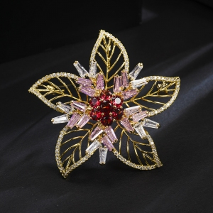 R.A zircon flower brooch  85044