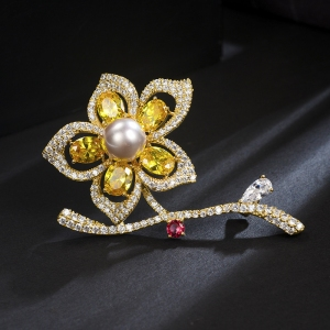 R.A zircon flower brooch  850456