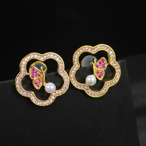Allencoco flower earring   208895