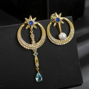 Allencoco circle earring   208879
