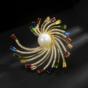 R.A zircon brooch  850373