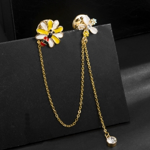 R.A bee flower brooch  850426