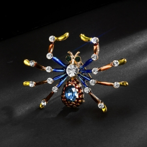 R.A zircon spider brooch  850463
