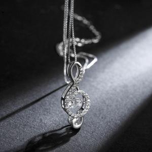 Rigant zircon note necklace  77591