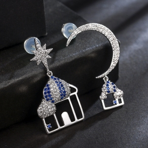 Allencoco moon star earring  208858
