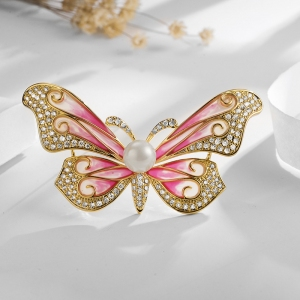 R.A Butterfly zircon brooch  850441